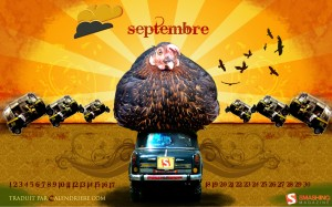 Calendrier septembre 2009 chicken