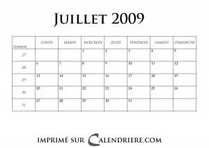 calendrier 2018 gratuit calendrier mensuel et gratuit pour juillet 2009. Black Bedroom Furniture Sets. Home Design Ideas
