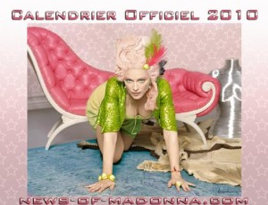 calendrier 2010 madonna