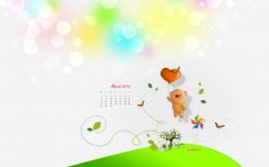 calendrier enfant mars 2010