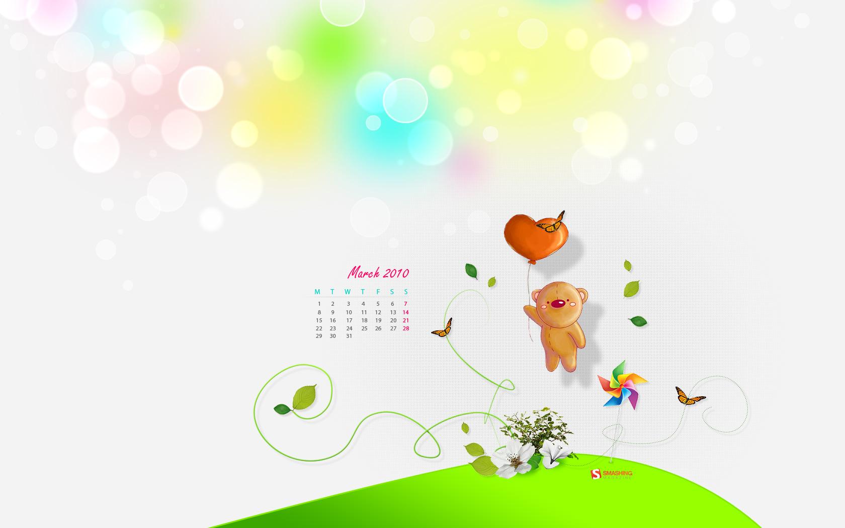 Calendrier Enfant 2010 Fond Ecran