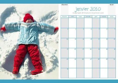 Calendrier 2010 Gratuit Imprimer