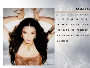 calendrier madonna mars 2010