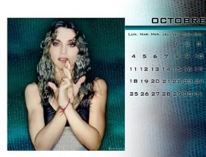 calendrier madonna mensuel octobre 2010