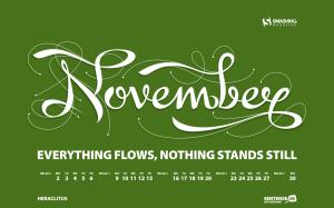 calendrier novembre 2009 fond d'écran