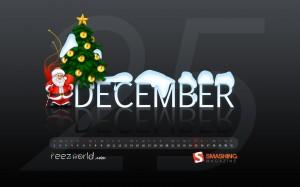 calendrier wallpaper décembre 2009